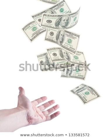 手 キャッチ 下がり お金 孤立した 白 ストックフォト © Ansonstock