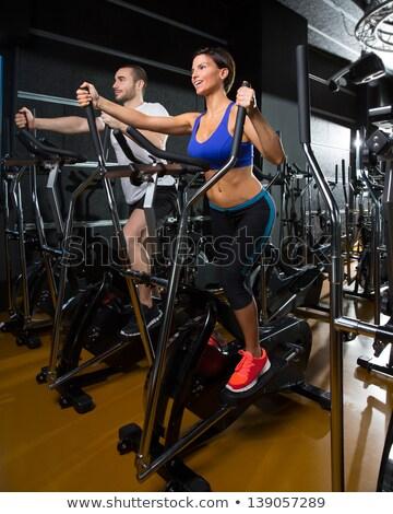 aerobik · monitor · trener · kobieta · siłowni · dziewczyna - zdjęcia stock © lunamarina