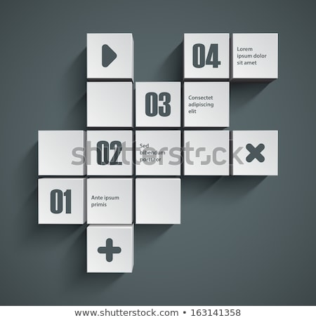 Vector abstract squares and cubes background illustration / infographic template Stock photo © orson