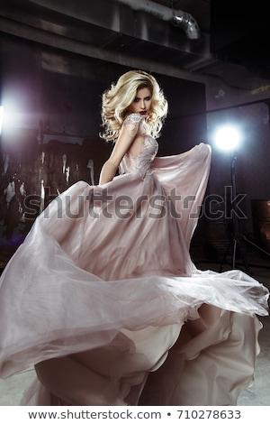 attractive blonde beauty posing with beautiful makeup stock photo © pawelsierakowski