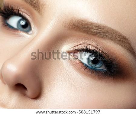 gyönyörű · nő · luxus · smink · különleges · szőke - stock fotó © geribody