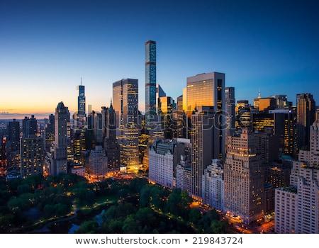 Légifelvétel Manhattan Empire State Building felső légi panorámakép Stock fotó © meinzahn