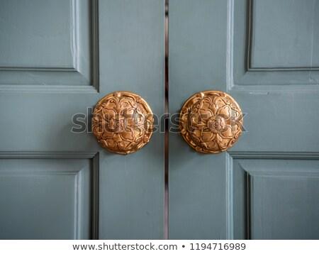 öregedés · ajtó · fa · otthon · háttér · zár - stock fotó © nejron