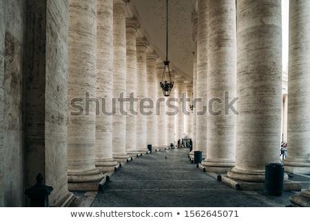 Csetepaté oszlopok Olaszország Vatikán építkezés fény Stock fotó © Nejron