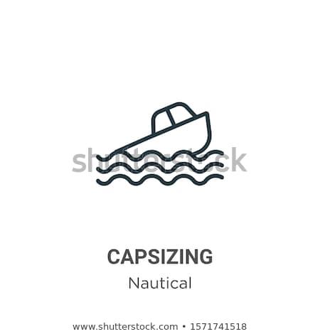 Barco céu madeira pôr do sol navio Foto stock © lukchai