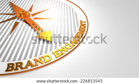 Brand Engagement on White with Golden Compass. Stock photo © tashatuvango