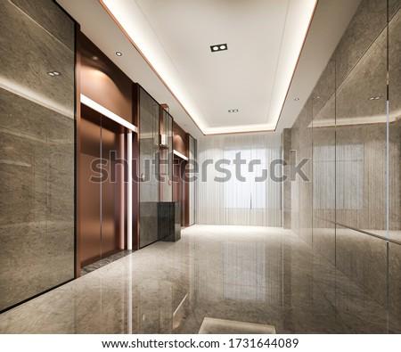 hôtel · lobby · ascenseur · espace · maison · lumière - photo stock © wxin
