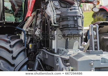pesado · caminhão · motor · pormenor · ferro · motor - foto stock © simazoran