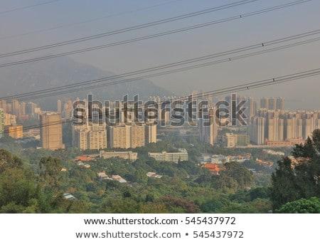 ver · Hong · Kong · dia · céu · edifício · cidade - foto stock © elnur