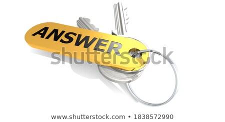 Keys with Word 'Creativity' on Golden Label. Stock photo © tashatuvango