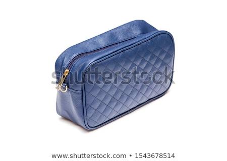 синий кожа кошелька женщину Финансы магазин Сток-фото © ozaiachin
