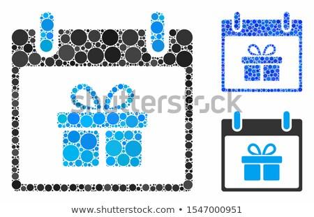 Foto d'archivio: Donare · blu · note · adesive · vettore · icona · design