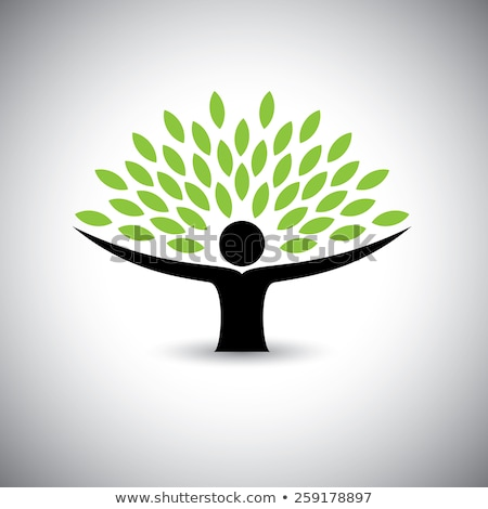 people embracing tree or nature  Stock photo © shawlinmohd