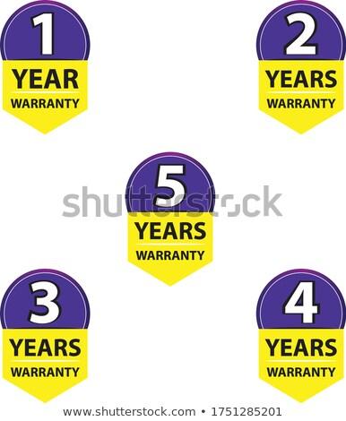 Yıl garanti sarı vektör ikon dizayn Stok fotoğraf © rizwanali3d