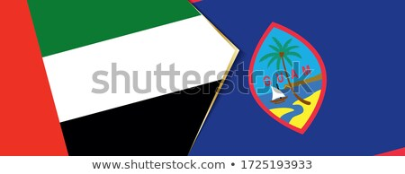 Egyesült Arab Emírségek Guam zászlók puzzle izolált fehér Stock fotó © Istanbul2009
