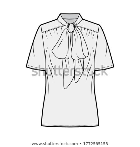 блузка шорты довольно молодые брюнетка Purple Сток-фото © disorderly
