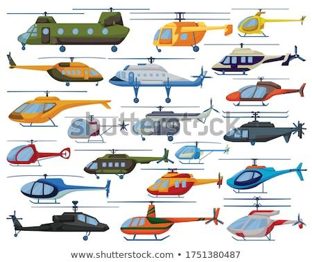 Rajz katonaság repülőgép vektor repülőgép eps10 Stock fotó © mechanik