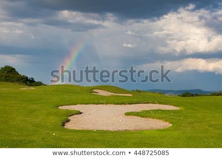 arena · golf · vacío · campo · de · golf · lluvia · hierba - foto stock © capturelight