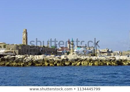 Eski saat kule liman şehir Stok fotoğraf © meinzahn