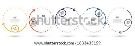 Infographics opties ontwerpsjabloon grafiek grafiek kleuren Stockfoto © SArts