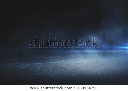抽象的な · 暗い · 青 · 行 · グロー · 背景 - ストックフォト © Tefi
