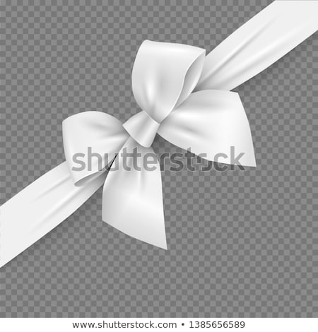 Gift Box With Satin Ribbon Bow isolated on a white Stock photo © kayros