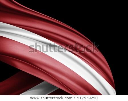 Euro szimbólum zászló 3d illusztráció felirat pénzügy Stock fotó © drizzd