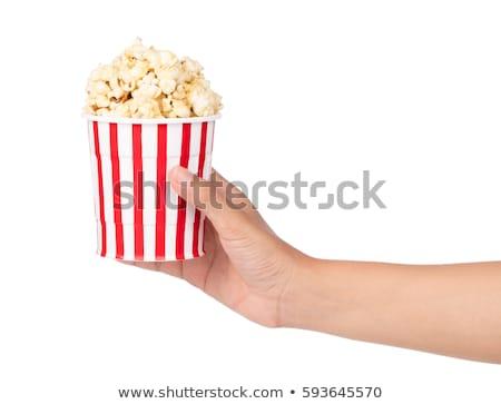 handful of popcorn Stock photo © Digifoodstock