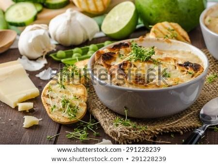 Raiz de beterraba alho brinde prato torrado Foto stock © Digifoodstock
