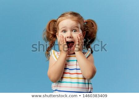 little · girl · criança · em · pé · isolado · imagem - foto stock © deandrobot