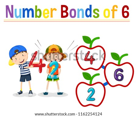 Number bonds of 6 Stock photo © bluering