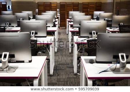 Interni laboratorio informatico illustrazione clock studente tecnologia Foto d'archivio © bluering