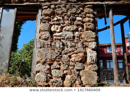 Stockfoto: Dilapidated Neglected Old Building Factory Falling Into Ruin And Disrepair