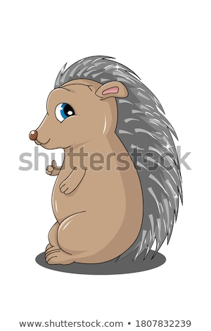 Cartoon Porcupine Smiling Stock photo © cthoman