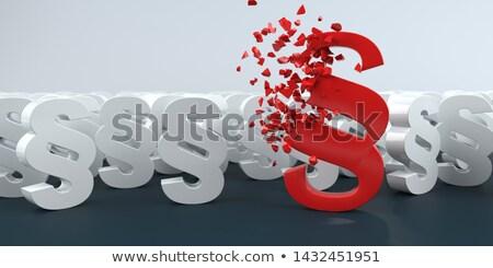 Vermelho parágrafo branco tabela ilustração 3d juiz Foto stock © limbi007