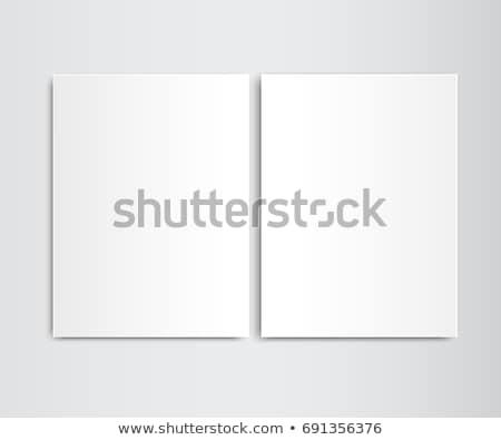 Deux papier blanche jaune Photo stock © creatOR76