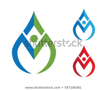 logo m yoga man letter m icon vector symbol Stock photo © blaskorizov