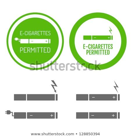 Vector set electronic cigarette Stock photo © netkov1