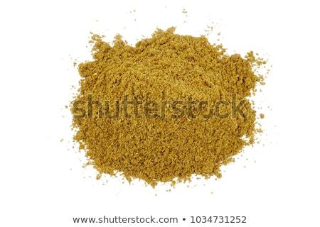 komijn · geheel · witte · kom · voedsel · lepel - stockfoto © bdspn