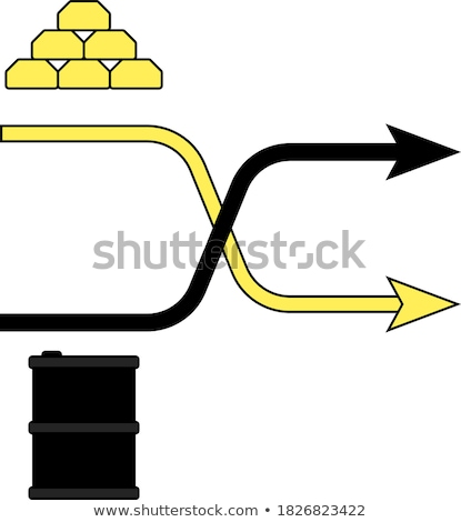 Gold and oil comparison chart icon Stock photo © angelp