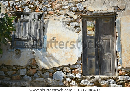 Ruined house on island  Stock photo © colematt