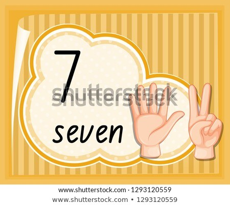 Number seven hand gesture template stock photo © colematt