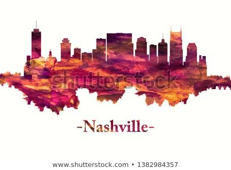Cityscape Tennessee ville panorama ciel Skyline Photo stock © Winner
