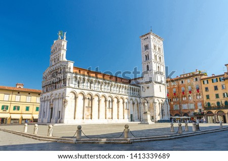 San Michele in Foro, Lucca, Italy Stock photo © borisb17