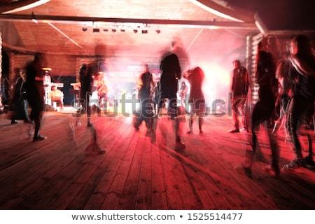Silhouet groep mensen vieren partij overgang digitale composiet Stockfoto © wavebreak_media