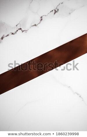 チョコレート ブラウン シルク リボン 大理石 休日 ストックフォト © Anneleven