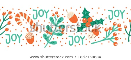Berries - vector hand drawn vintage seamless footer Stock photo © Decorwithme