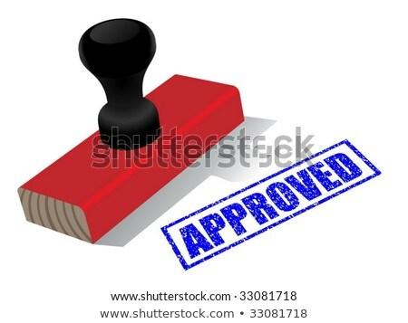 Elismert osztályzat nyomtatott bélyeg fóka alkotóelem Stock fotó © pikepicture