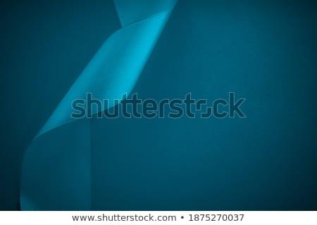 Streszczenie jedwabiu wstążka niebieski ekskluzywny Zdjęcia stock © Anneleven