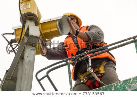 電気 メンテナンス 電気 作業 背景 ボックス ストックフォト © AndreyPopov